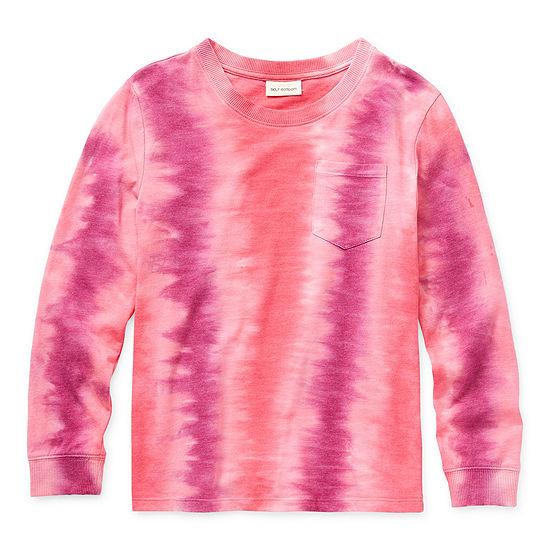 Self Esteem Little & Big Girls Round Neck Long Sleeve T-Shirt