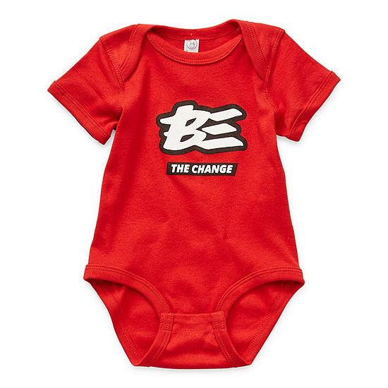 Baby Unisex Crew Neck Short Sleeve Bodysuit