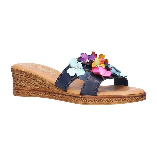 Easy Street Womens Lilla Wedge Sandals