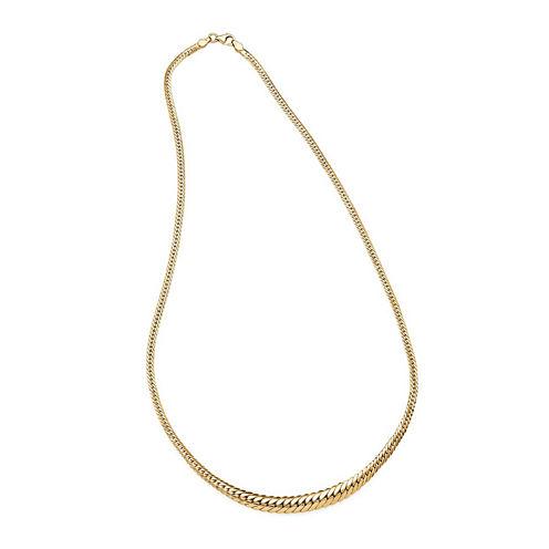 14K Yellow Gold Graduated Grumetta Necklace