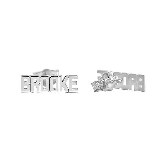 Personalized Block Name Earrings