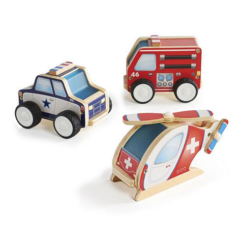 Guidecraft Jr. Plywood 3-pc. Community Vehicle Set