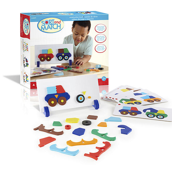 Guidecraft Construction Truck Sort-and-Match Learning Toy Set