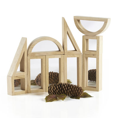 Guidecraft 10-Pc. Mirror Building Blocks Set