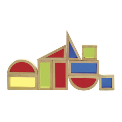 Guidecraft 10-pc. Rainbow Building Blocks Set