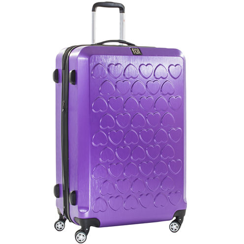 "Hearts Gold 21"" Upright Lightweight Luggage"