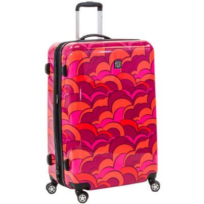 "Sunset Orange 28"" Upright Lightweight Luggage"