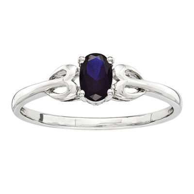 Womens Lab Created Blue Sapphire Sterling Silver Delicate Ring