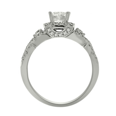 Womens 1 CT. T.W. Genuine Round White Diamond Platinum Engagement Ring
