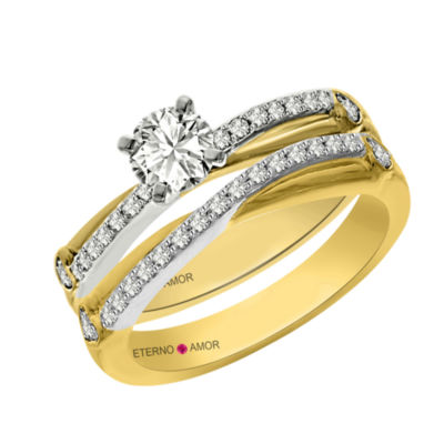Eterno Amor Womens 3/4 CT. T.W. Genuine White Diamond 14K Gold Bridal Set