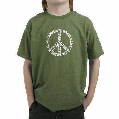 Los Angeles Pop Art Word Peace Boys Graphic T-Shirt
