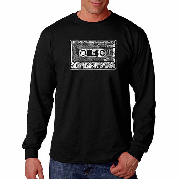 "Los Angeles Pop Art Graphic ""Best Way To Sum Up The 80S"" Word Art Long Sleeve T-Shirt"""