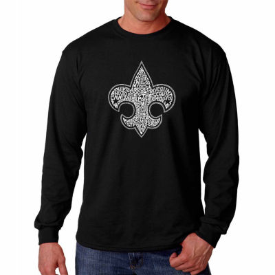 "Los Angeles Pop Art Graphic ""Boy Scout Oath"" WordArt Long Sleeve T-Shirt"""