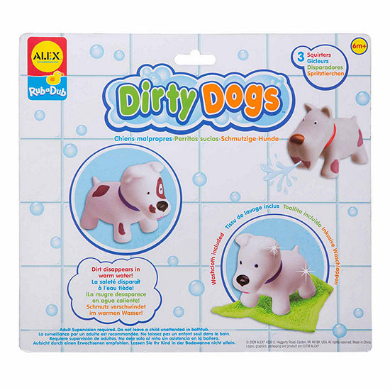 Alex Toys Rub A Dub Dirty Dogs 4 Pc Toy Playset Unisex