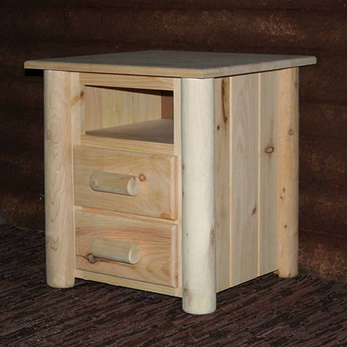 Frontier Pine 2-Drawer Nightstand