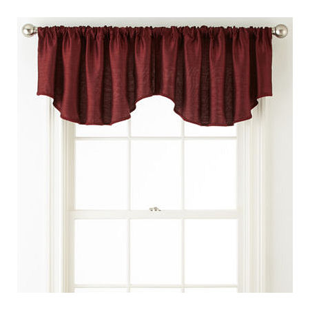 JCPenney Home Westfield Rod-Pocket/Back-Tab Ascot Valance, One Size , Red
