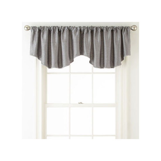 JCPenney Home Westfield Rod-Pocket/Back-Tab Ascot Valance