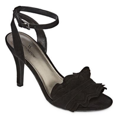 Worthington Womens Chandler Pumps Buckle Open Toe Stiletto Heel