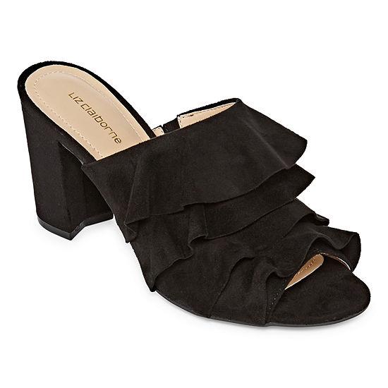 Liz Claiborne Womens Deanna Mules Slip-on Open Toe