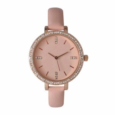 Olivia Pratt Womens Pink Strap Watch-15321pink