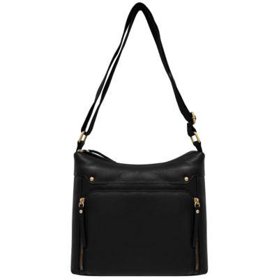 EF Leather Zip Hobo Bags