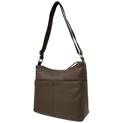 EF Leather Zip Hobo