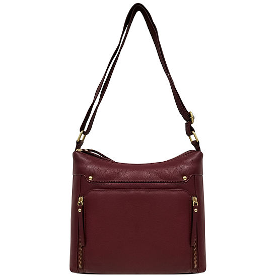 east 5th Leather Zip Hobo Bag