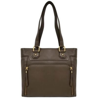 EF Leather Zip Tote