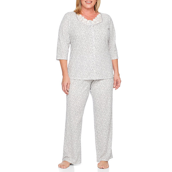 Adonna 2-pc. Floral Pant Pajama Set-Plus