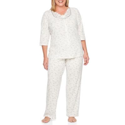 Adonna 2-pack Floral Pant Pajama Set-Plus