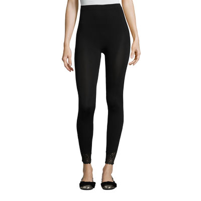 Libby Edelman Lace Trim Footless Tights