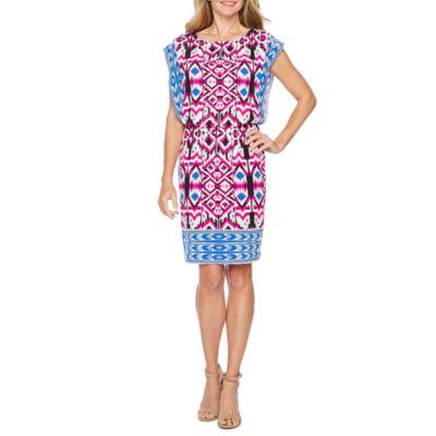 London Style Sleeveless Blouson Dress