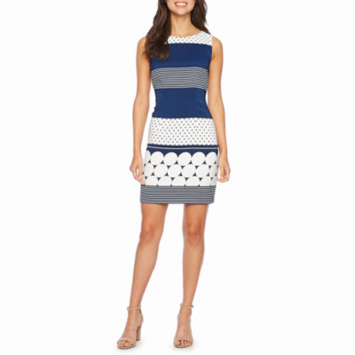 Alyx Sleeveless Stripe Sheath Dress
