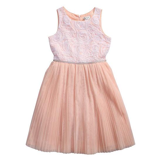 Emily West Girls Sleeveless Party Dress - Big Kid