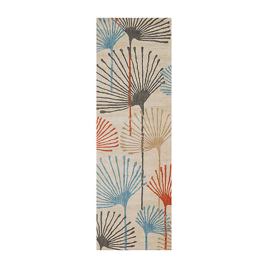 Rizzy Home Cabot Bay Collection Trinity Hawaiian Tropical Rectangular Rugs