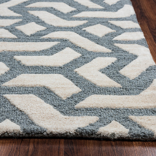 Rizzy Home Caterine Collection Ariel Geometric Rectangular Rugs