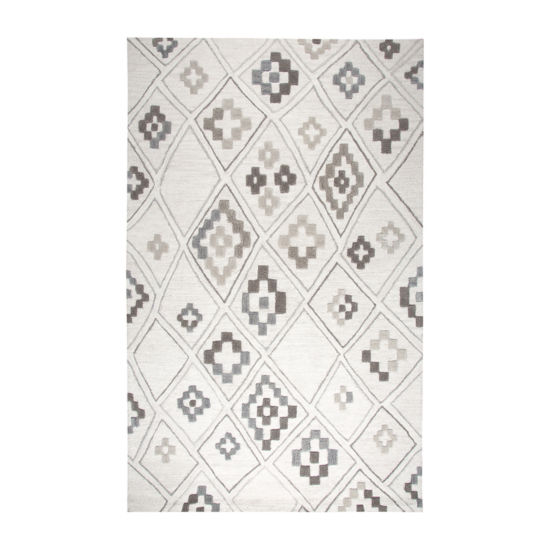 Rizzy Home Caterine Collection Emery Geometric Rectangular Rugs