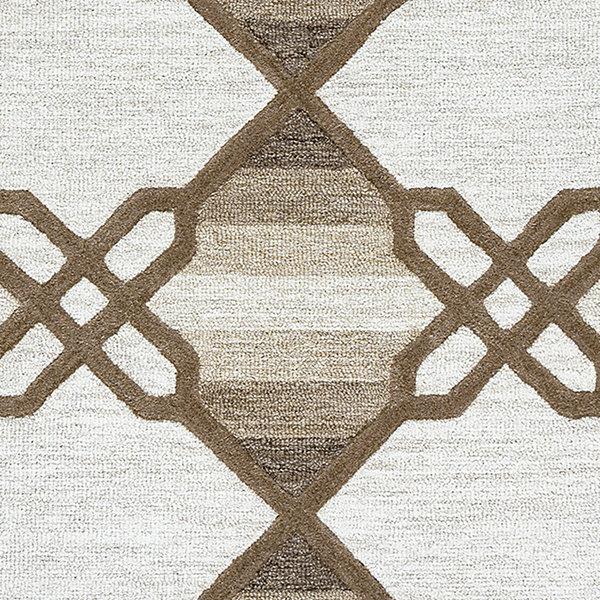 Rizzy Home Caterine Collection Emilia Geometric Rectangular Rug