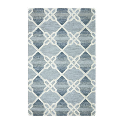 Rizzy Home Caterine Collection Lilly Geometric Rectangular Rug