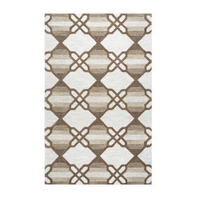Rizzy Home Caterine Collection Makayla Geometric Rectangular Rug