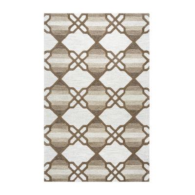 Rizzy Home Caterine Collection Makayla Geometric Rectangular Rug