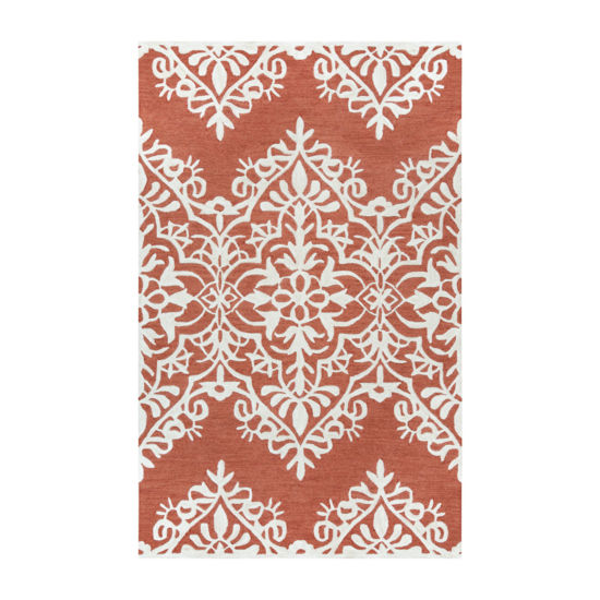 Rizzy Home Caterine Collection Melosy Damask Rectangular Rugs