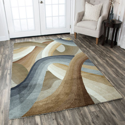 Rizzy Home Colours Collection Hannah Abstract Rectangular Rugs