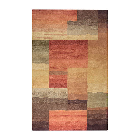 Rizzy Home Colours Collection Isabel Color Block Rectangular Rugs