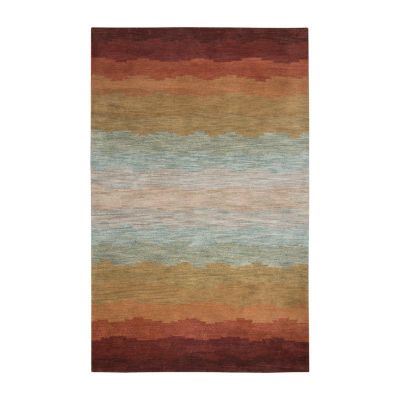 Rizzy Home Colours Collection Mckenzie Stripe Rectangular Rugs