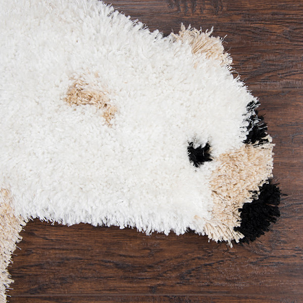 Rizzy Home Commons Collection Margaret Polar Bear Rug