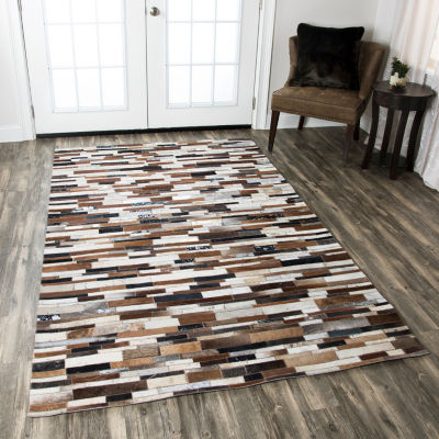 Rizzy Home Cumberland Pass Collection Aliyah ColorBlock Rugs