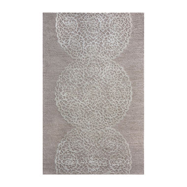 Rizzy Home Dimensions Collection Rose Medallion Rugs