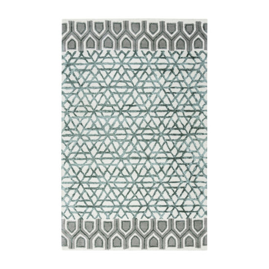 Rizzy Home Eden Harbor Collection Alina Geometric Rectangular Rugs