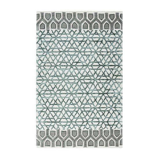 Rizzy Home Eden Harbor Collection Alina Geometric Rectangular Rugs